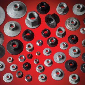 Custom engineered auto nuts and washers